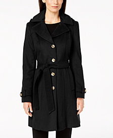 MICHAEL Michael Kors Petite Hooded Belted Coat