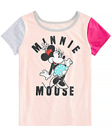 Disney Big Girls Minnie Mouse Colorblocked T-Shirt