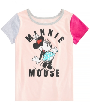 Disney Big Girls Minnie Mouse Colorblocked TShirt