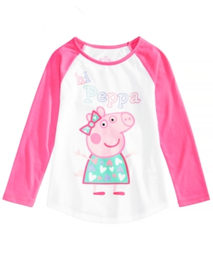Peppa Pig Little Girls GraphicPrint Raglan TShirt