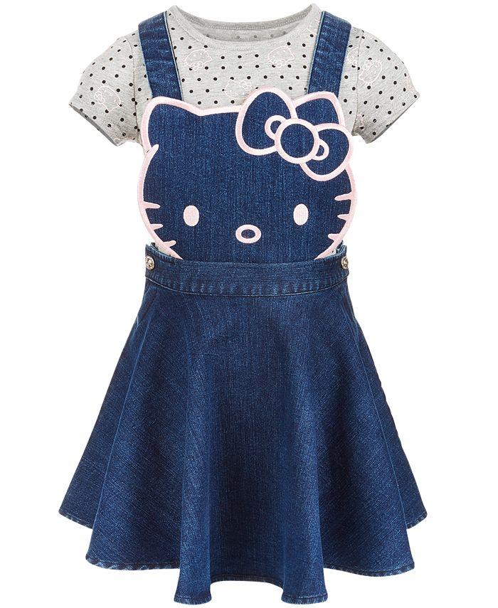 Hello Kitty - Toddler Girls 2-Pc. Denim Skirtall & T-Shirt Set