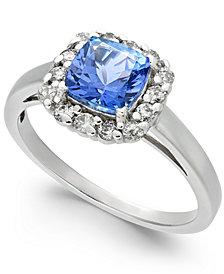 Tanzanite (1-1/10 ct. t.w.) & Diamond (1/4 ct. t.w.) Ring in 14k White Gold