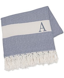 """Cathy's Concepts Personalized Blue Turkish 50"""" x 60"""" Throw"""