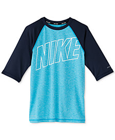 Nike Big Boys Outline Rash Guard Swim Top