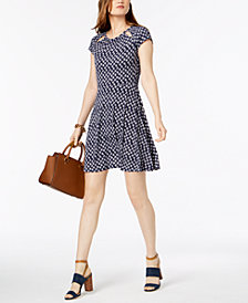 MICHAEL Michael Kors Printed Cutout Dress in Regular & Petite Sizes