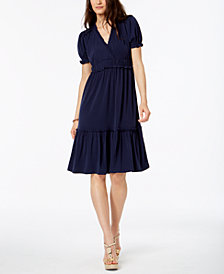 MICHAEL Michael Kors Ruffled Tiered Dress In Regular & Petite Sizes