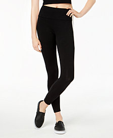 Material Girl Active Juniors' Striped Leggings, Created for Macy's