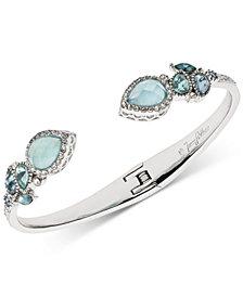 Jenny Packham Silver-Tone Pavé & Stone Cuff Bracelet