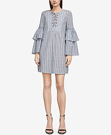 BCBGMAXAZRIA Charlyze Striped Lace-Up Dress