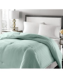 Luxury Damask Stripe Feather & Down King Comforter