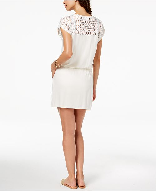 b02bcbdd0df3a Calvin Klein Crochet-Shoulder Tunic Cover Up   Reviews - Swimwear ...