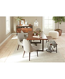 Everly Dining 6-Pc. Set (Table, 4 Round Back Side Chairs, & Bench), Created for Macy's