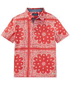 Polo Ralph Lauren Big Boys Printed Cotton Polo