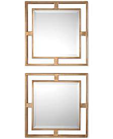 Uttermost Allick Gold Square Mirrors, Set of 2