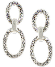 Lauren Ralph Lauren Silver-Tone Pavé Link Drop Earrings