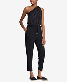 Lauren Ralph Lauren Jersey One-Shoulder Jumpsuit