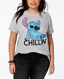 Disney Plus Size Stitch Graphic T-Shirt