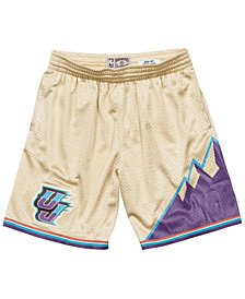 Mitchell & Ness Men's Utah Jazz Gold Collection Swingman Shorts