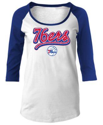 5th   Ocean Women s Philadelphia 76ers Glitter Raglan T-Shirt - Sports Fan  Shop By Lids - Women - Macy s a28f1047b