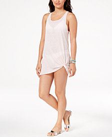 Miken Juniors' Sheer Tank Dress Cover-Up, Created for Macy's
