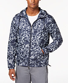 DKNY Men's Printed Logo Windbreaker Jacket