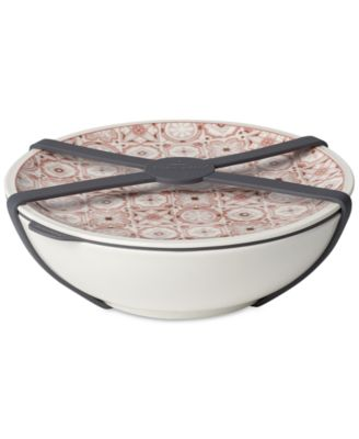 Modern Dining Rose Large Dish with Lid