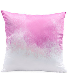 "Zuo Splash Pink & White 17.7"" x 17.7"" Decorative Pillow"