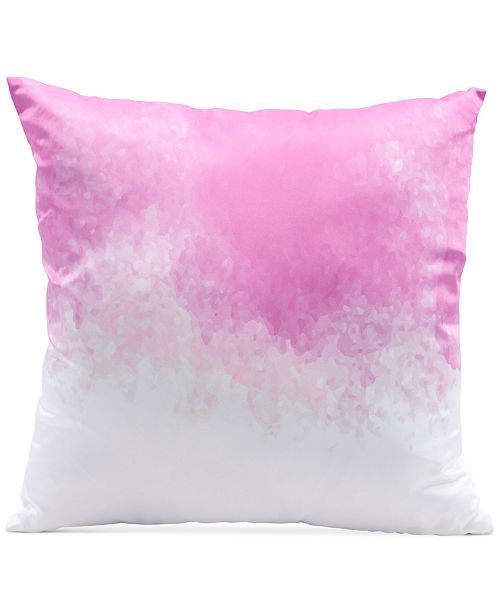 "Zuo Splash Pink & White 17.7"" x 17.7"" Decorative Pillow"