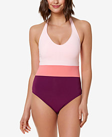 Bleu by Rod Beattie Colorblocked One-Piece Swimsuit