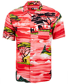 LRG Men's Sunsetter Graphic-Print Pocket Shirt