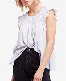 Free People Cotton Ruffled T-Shirt