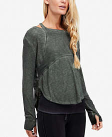 Free People FP Movement Zenith High-Low Thumbhole Tee