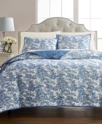 Forest Toile 100% Cotton Reversible Twin Quilt, Created for Macy's