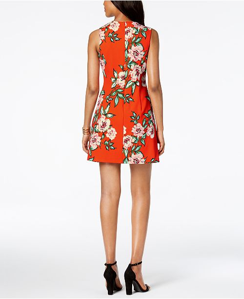 Multi Petite Dress A Jessica Line Print Howard Orange Floral gx8OS