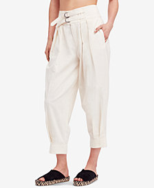 Free People Double-Buckle Soft Pants