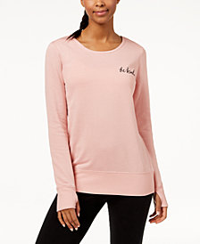 Ideology Graphic Strappy-Back Sweatshirt, Created for Macy's