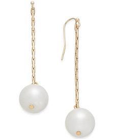 I.N.C. Gold-Tone Imitation Pearl Linear Drop Earrings, Created for Macy's