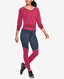 Under Armour Unstoppable Cropped Sweatshirt & Colorblocked Leggings