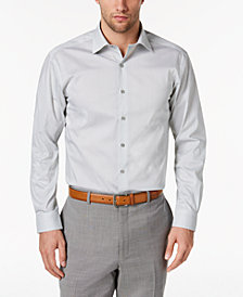 AlfaTech by Alfani Men's Classic/Regular Fit Shaded Cube Print Dress Shirt, Created for Macy's