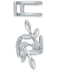 I.N.C. Silver-Tone Mismatch Ear Cuff Earrings, Created for Macy's