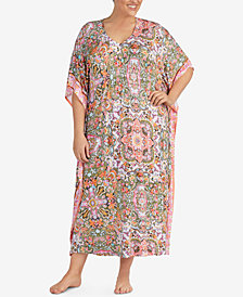 Ellen Tracy Plus Size Contrast-Panel Caftan