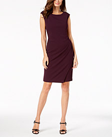 Calvin Klein Draped Sheath Dress