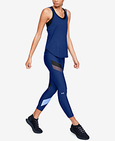 Under Armour Strappy-Back Tank Top & HeatGear® Colorblocked Ankle Leggings