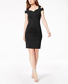 Calvin Klein Go Red® Cold-Shoulder Sheath Dress