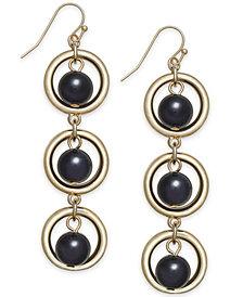 I.N.C. Gold-Tone Circle & Ball Linear Drop Earrings, Created for Macy's