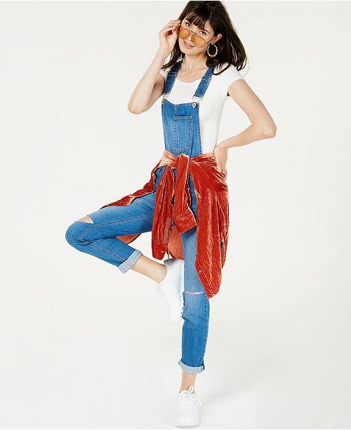 for Skinny Juniors' Dollhouse Macy's Overalls Created Denim Skylark q7x6O