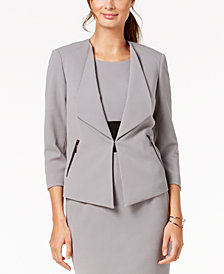 Kasper Wing-Lapel Jacket, Regular & Petite Sizes