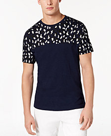 I.N.C. Men's Foil Leopard T-Shirt, Created for Macy's