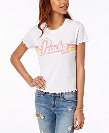 Hybrid Juniors' Peachy Graphic T-Shirt
