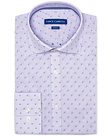 Vince Camuto Men's Slim-Fit Comfort Stretch Amethyst Dobby Dress Shirt